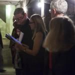 Christian Padberg und Eva Schäfers: Schauspielerisches Duett im Verbindungsgang zwischen den Türmen